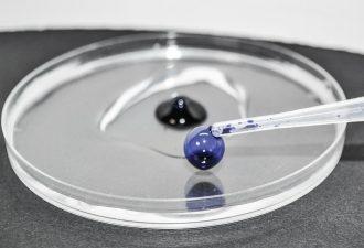 Pipette mit einem Reagenzglas