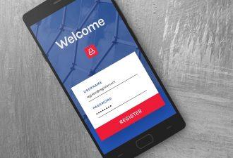 Onlinebanking Anmeldung auf einem Smartphone