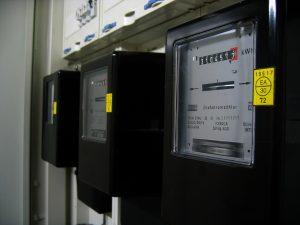 Stromzähler angeschlossen