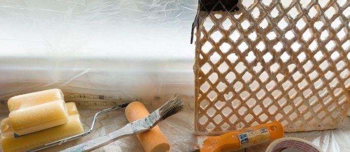 Streichset um eine Tür zu streichen, die vorher nicht abgeschliffen werden musste