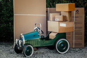 Schwere Pakete ohne Auskleber
