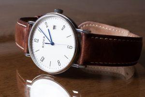 Glas einer Armbanduhr
