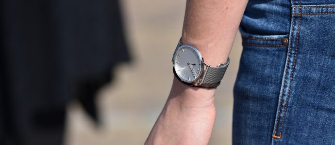 Armbanduhr an Arm